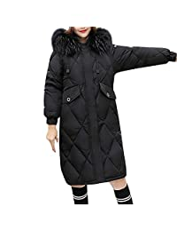 BETTERUU Women Winter Warm Faux Fur Coat Hooded Thick Warm Slim Long Jacket Overcoat