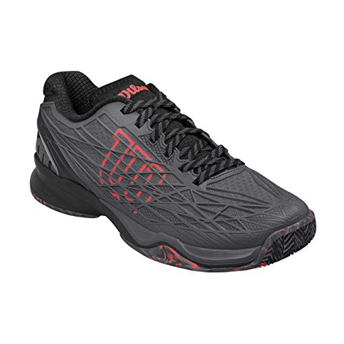 Wilson Wrs322910e115, Chaussures de Tennis Homme, Gris (Ebony / Black / Fiery Coral), 46 2/3 EU