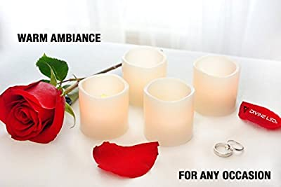 [Gorgeous Flameless Candles] - Flickering LED Candles - 100+ hrs of Extended Light Time - Set of 6 Unscented Battery Powered Romantic LED Candles - Votive Candles - Fake Candles - Suitable for Weddings, Christmas, Funerals, Souvenirs - Makes a Great Gift