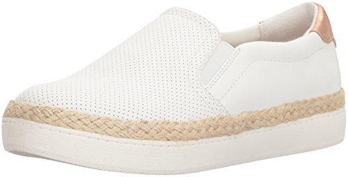 Dr. Scholl's Shoes Women's Madi Jute Sneaker, White Perforated, 7.5 Medium US