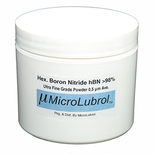 MICROLUBROL 1 oz HEXAGONAL BORON NITRIDE hBN Powder ULTRA FINE 0.5 µ micron
