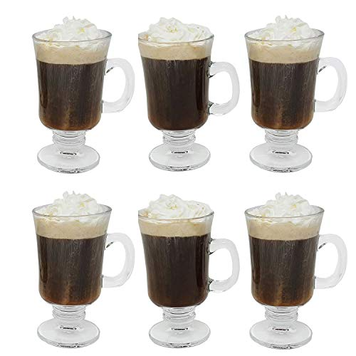 Irish Coffee Glass Coffee Mugs Footed Regal Shape