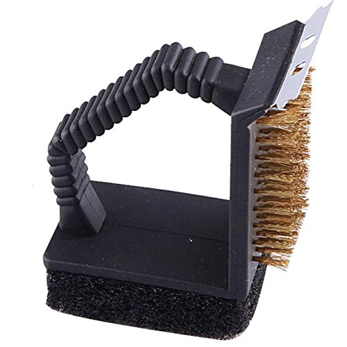 Wall of Dragon Outdoor Picnic BBQ Cleaning Brush Barbecue Grilled Net Three-in-one Corner Copper Wire Brush Home Kitchen Cooking Tools