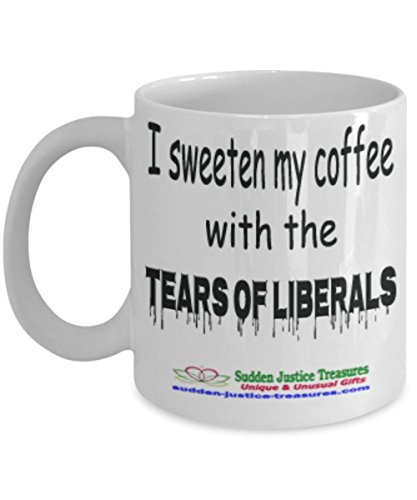 Taxi Cookie Jar (I Sweeten My Coffee With The Tears Of Liberals White Mug Unique Birthday, Special Or Funny Occasion Gift. Best 11 Oz Ceramic Novelty Cup for Coffee, Tea, Hot Chocolate Or Toddy)