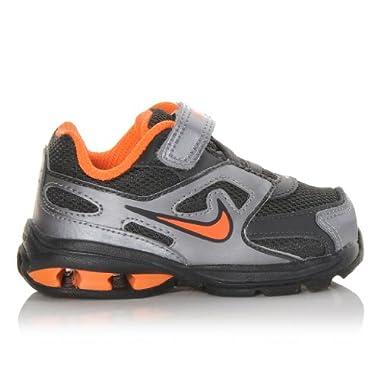 87d2aa3c7a81 Nike Kids Reax Run Dominate (Td) Orange Silver Black Toddler Boys