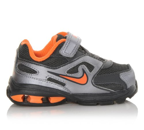 Nike Kids Reax Run Dominate (Td) Orange Silver Black Toddler (Nike Reax Run)