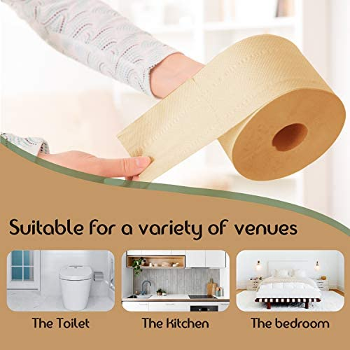 Elvissmart Ultra Soft Bamboo Toilet Paper, 200 Sheets/Roll-3600 Total Bath Tissue