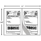 "200 Half Sheet Shipping Labels for Laser/InkJet 5-1/2"" x 8-1/2"" (Same size as Avery 5126)"