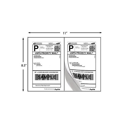 Amazon.com : 200 Half Sheet Shipping Labels Laser Usps UPS Fedex : Office  Products