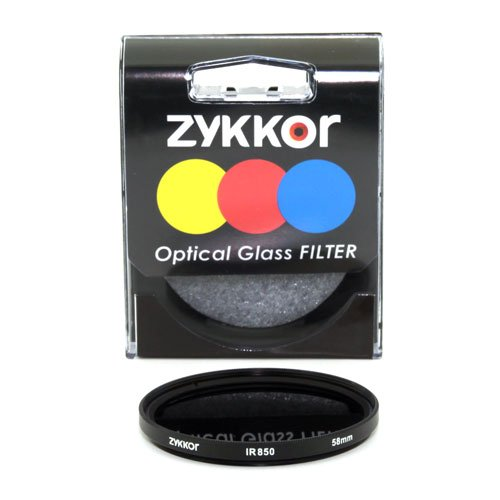 Zykkor 58mm 850nm IR85 Infrared IR Filter by Zykkor