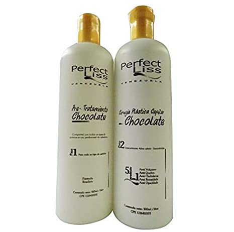 Amazon.com : Cirugia capilar keratina brasilera Perfect liss chocolate tratamiento capilar de alizado progresivo cero frizz (Tratamiento 500ml) : Beauty