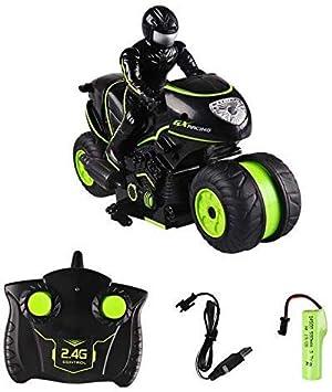 JUGUETE F RC Que Cae Coche Truco, 360 ° Rotación Motocicleta Alta Velocidad 2.4G Side-Fila Drift, Control Remoto Moto Modelo Juguetes Niños Motor Deportes Los Niños Regalo Los Juguetes