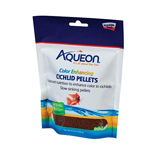 Aqueon Cichlid Food Color Enhancing Pellets, 4-1/2-Ounce ()