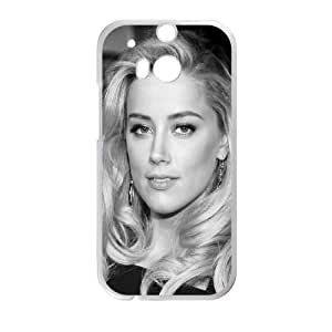 HTC One M8 Cell Phone Case White Amber Heard Black Dress M2U9QI