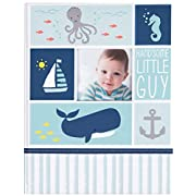 Carter's Blue Nautical My First Years Bound Memory Book for Baby Boys, 9  W x 11.125  H, 60 Pages