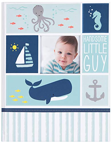 "Carter's Blue Nautical My First Years Bound Memory Book for Baby Boys, 9"" W x 11.125"" H, 60 Pages"