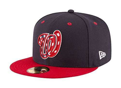 New Era 59Fifty Hat Washington Nationals MLB 2017 Alternate Blue/Red Fitted Cap (7 1/2) - Era New Cap Alternate