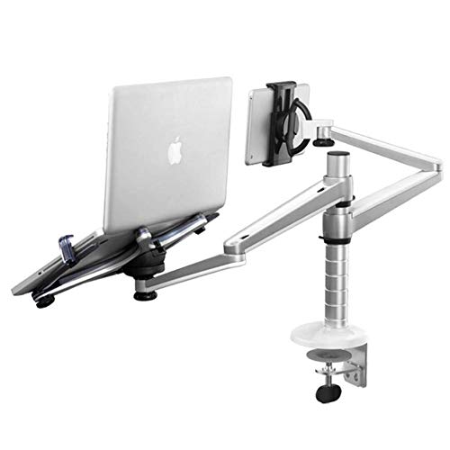 YEXIN Adjustable Aluminium Universal Single Laptop Notebook or Tablet Desk Mount Arm Stand Bracket with Tilt and Swivel (Color : C)