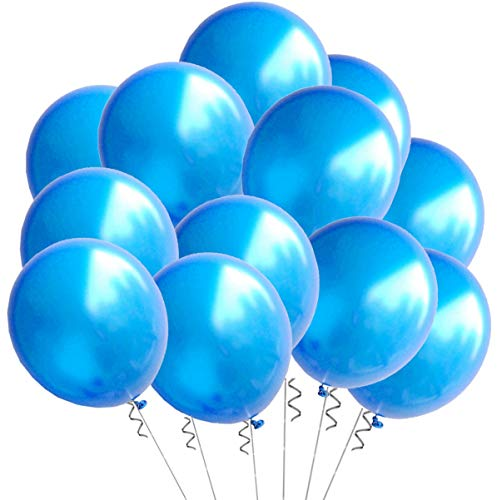 Elecrainbow 100 Pack 12 Inch 3.2 g/pc Thicken Round Pearlescent Latex Blue Balloons for Party Decorations, Dark Blue