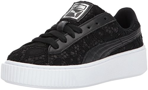 PUMA Women's Basket Fo Wn Platform, Black Black, 6.5 M US by PUMA