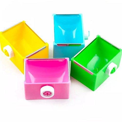 Small-Animal-Supplies-Plastic-Pet-RabbitGuinea-PigGalesaurHamster-GrassFoodWater-Double-Use-ContainerFeederBowlDishRandom-Color