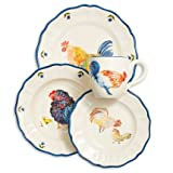 Sur La Table Jacques Pepin Collection 16-Piece Chickens Dinnerware Set