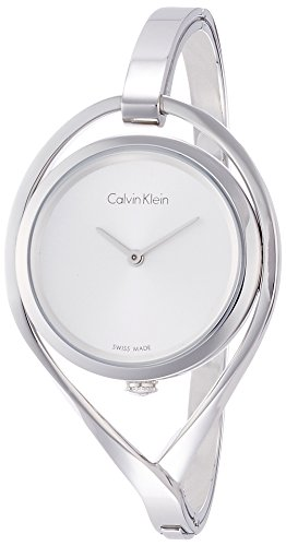 Calvin Klein Women's Analogue Quartz Watch with Stainless Steel Strap - Analog Stainless Bracelet
