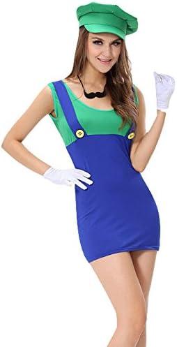 Disfraz de Luigi Mini vestido verde y azul, para Halloween ...