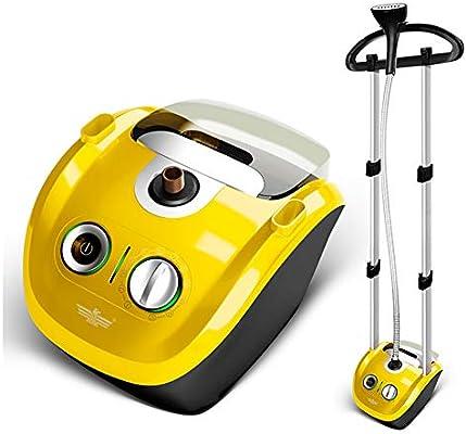 ZNDDB Plancha de Vapor - Máquina de Planchar Vertical del Vapor del Mini Ordenador portátil del Hierro eléctrico, 220V / 2000W, Capacidad Grande 2.3L,Yellow