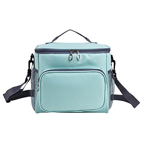Soft Cooler Bag - Women Soft Cooler Box -10L Picnic Cooler Bag with Adjustable Shoulder Strap,12 Can(Blue-green) - Small Soft Sided Cooler