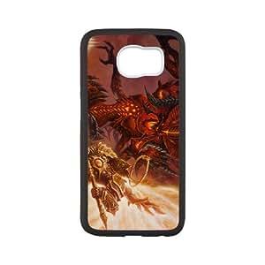 Diablo 2 funda Samsung Galaxy S6 caja funda del teléfono celular del teléfono celular negro cubierta de la caja funda EEECBCAAB11200
