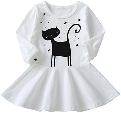 2c04d963dd6fa ワンピース キッズ服 Glennoky 猫柄 ドレス お姫様 プリンセス 可愛い 長袖 お嬢様 ベビー服 子供服 こども