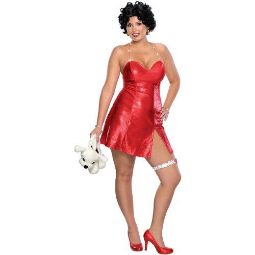 [Betty Boop Costume - Plus Size - Dress Size 16-22] (Halloween Betty Boop Costume)