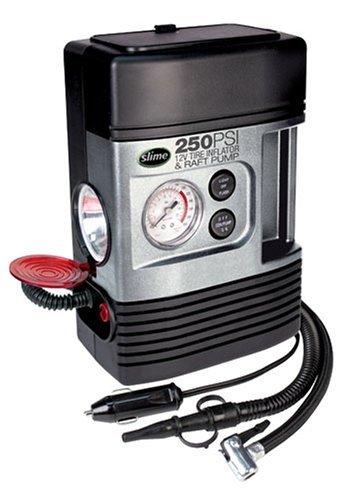 Amazon.com: Slime COMP Tire Inflator w/ Raft Pump and Light by Slime: Car Electronics
