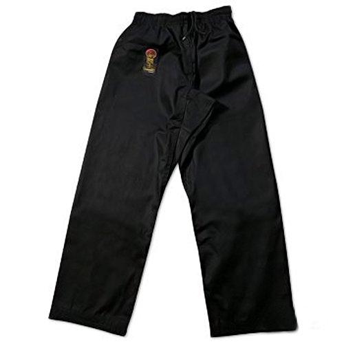 ProForce Gladiator 8oz Karate Pants w/ Elastic Waist - Black - Size 4 - Proforce Karate Pants