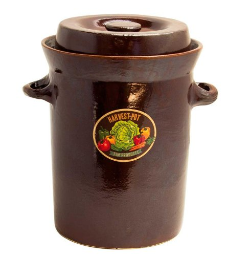 TSM Products 31042 Harvest Fiesta Fermentation Pot with Stone Weight, 15-Liter