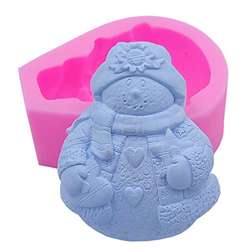 Great Mold Snowman Soap Molds Craft Art Silicone Soap Mold for Christmas Holiday Chocolate Candy Mold