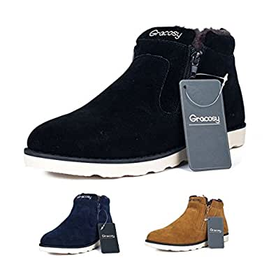 Amazon.com | Gracosy Snow Boots For Men and Women, Korean