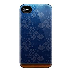 Iphone 4/4s Cxt18950nhTB Allow Personal Design Fashion Blue Flowers Pictures Scratch Protection Hard Cell-phone Cases -PhilHolmes