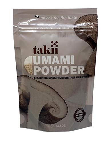 Takii Umami Powder, Magic Shitake Mushroom Seasoning, Add Instant Flavor and Depth to All Your Favorite Dishes (1-3.5 Ounce Pouch)