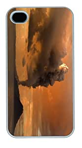 covers Cheap price papua new guinea volcanic eruption PC White Case for iphone 4/4S