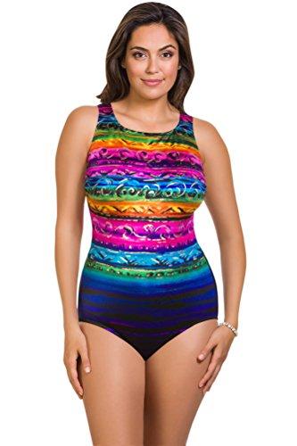 Longitude St. Lucia High Neck One Piece Swimsuit Size 12 by Longitude