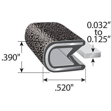 Edge Trim Negro Peque/ño Altura 9,5 mm x Gama de agarre 3 mm negro