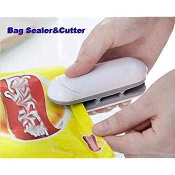 Bag Sealer 2 in 1 Heat Sealer and Cutter Mini Handheld Sealer Heat Bag Sealer Mini Sealing Machine Hand Pressure Heat Sealing Machine Mini Food Sealer Easy Use Bag Sealer Portable Sealer With Hook