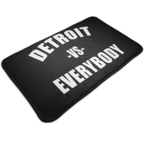 XKAWPC Outdoor Indoor Door Mats Detroit VS Everybody Non-Slip Washable Entryway Area Rug Rugs Doormats 19.5