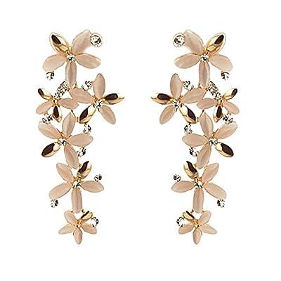 Crunchy Fashion Stylish Funky Gold Tone Drop Dangle Earrings for Women