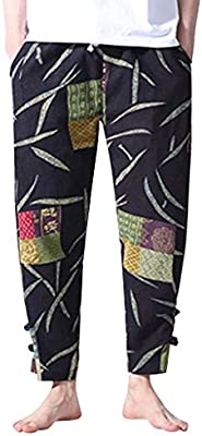 Men Fashion Ethnic Wind Printed Sport Pants, Male Casual