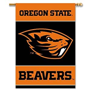 """Brand New Oregon State Beavers 2-Sided 28"""" X 40"""" Banner W/ Pole Sleeve"""