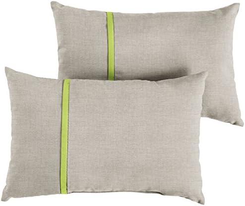 Mozaic AMPS113629 Indoor Outdoor Sunbrella Lumbar Pillow