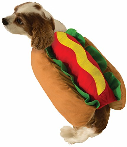 Hotdog And Bun Halloween Costume (Forum Hot Dog Pet Costume Small)